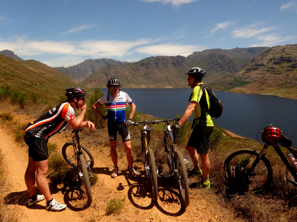 Mountain biking Stellenbosch to Franschhoek Cycle Tour Image